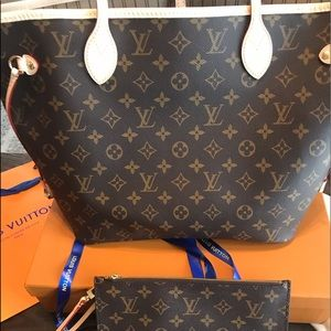Louis Vuitton Neverfull MM w/pouch